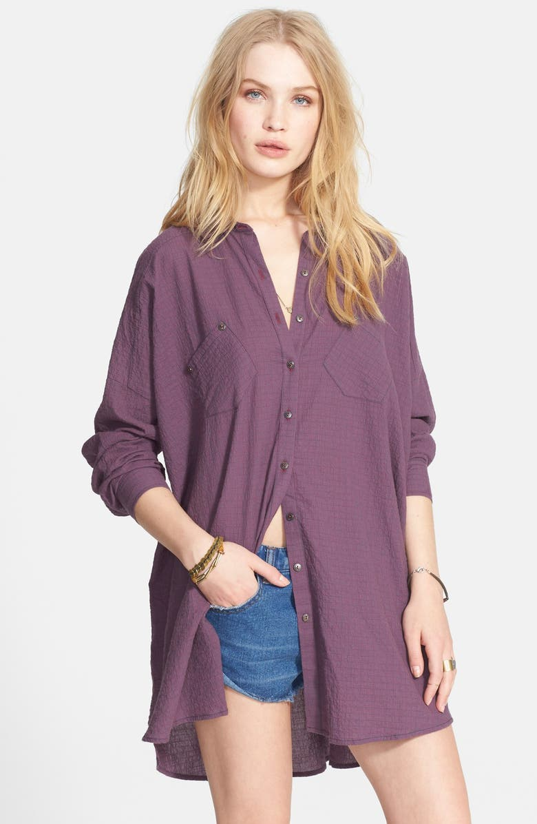 FREE PEOPLE 'Love Her Madly' Puckered Top, Main, color, 020