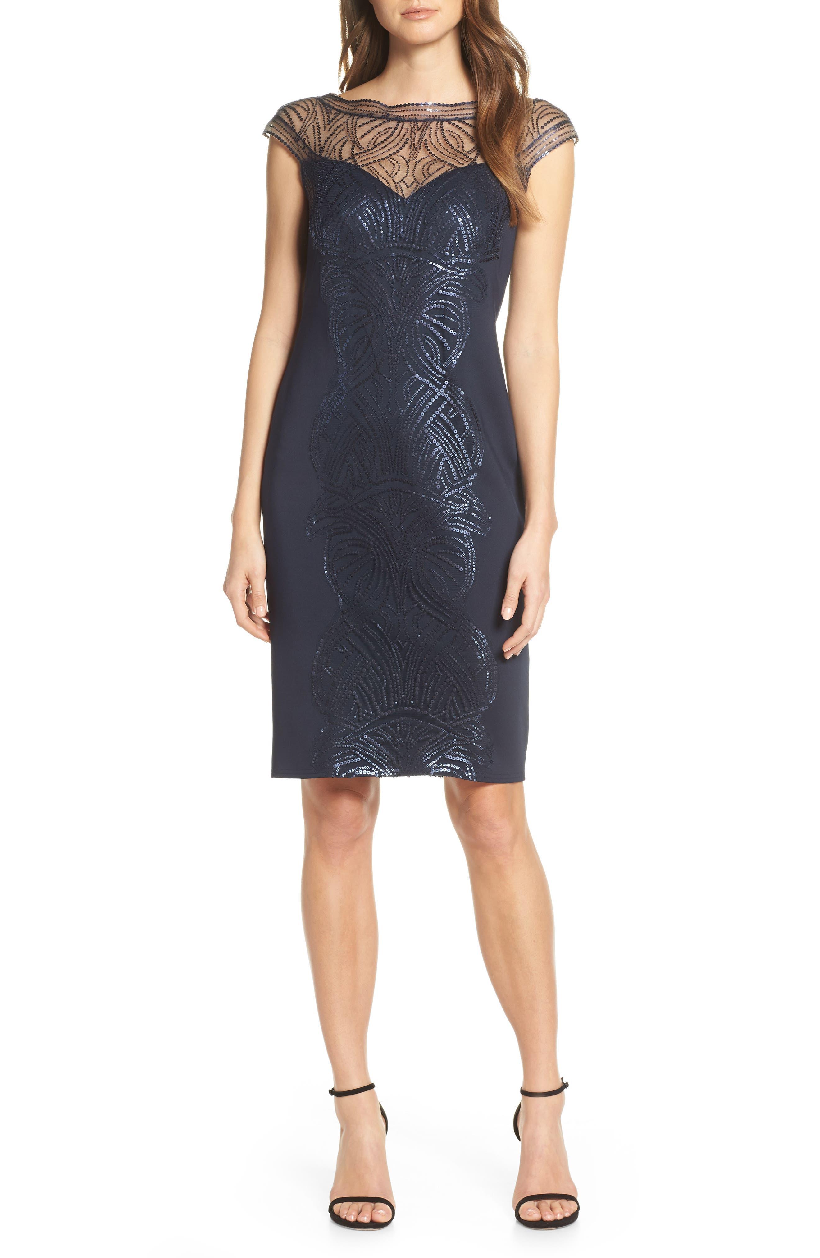 ,                             Sequin Sheath Dress,                             Main thumbnail 1, color,                             NAVY