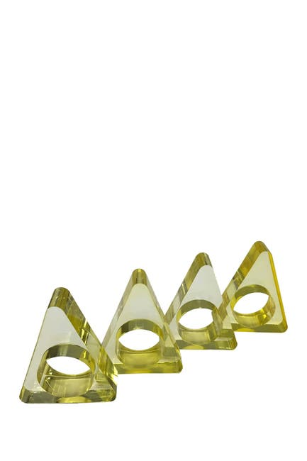 Image of R16 HOME Yellow Triangle Napkin Ring