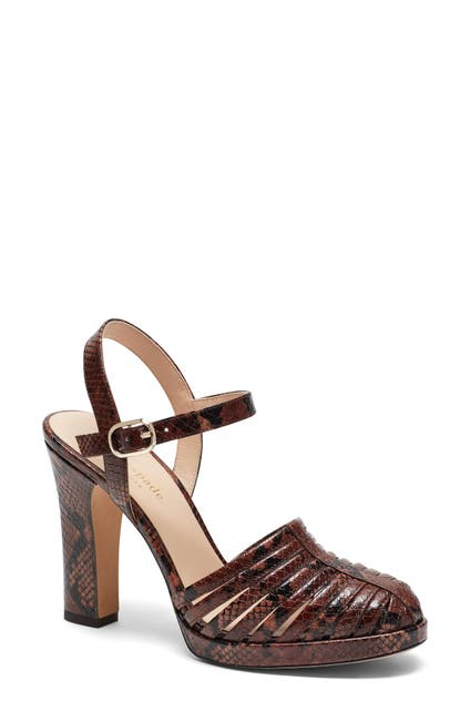 Image of kate spade new york campania snakeskin embossed sandal