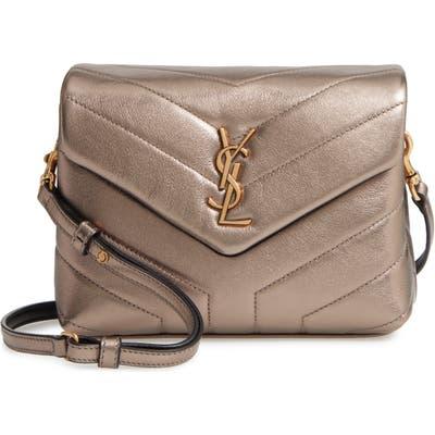 Saint Laurent Toy Loulou Matelasse Leather Crossbody Bag - Brown