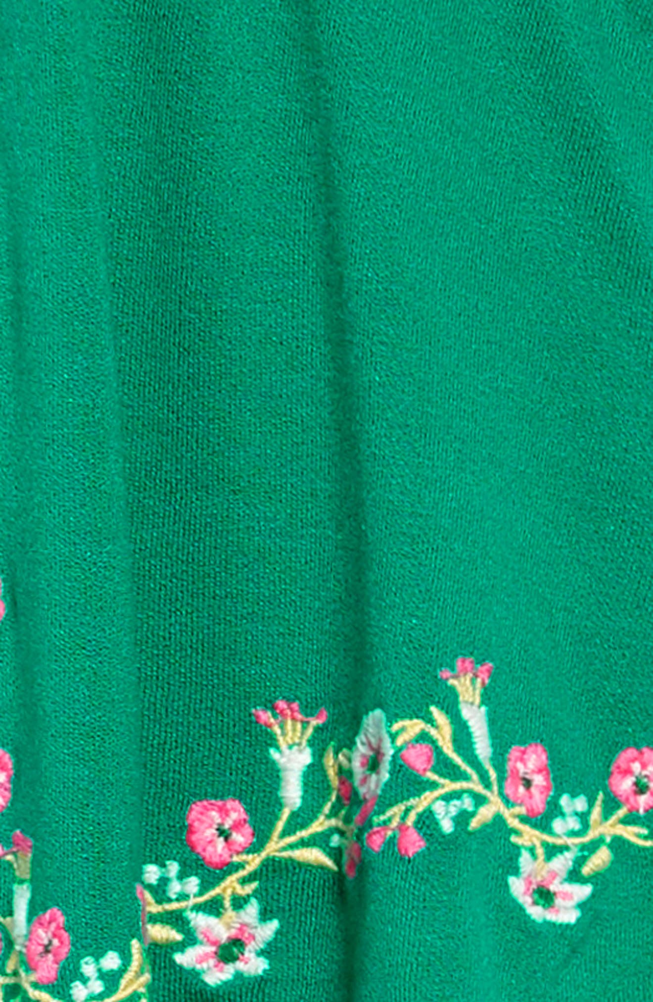 ,                             Look at Me Embroidered Romper,                             Alternate thumbnail 2, color,                             GREEN PARAKEET