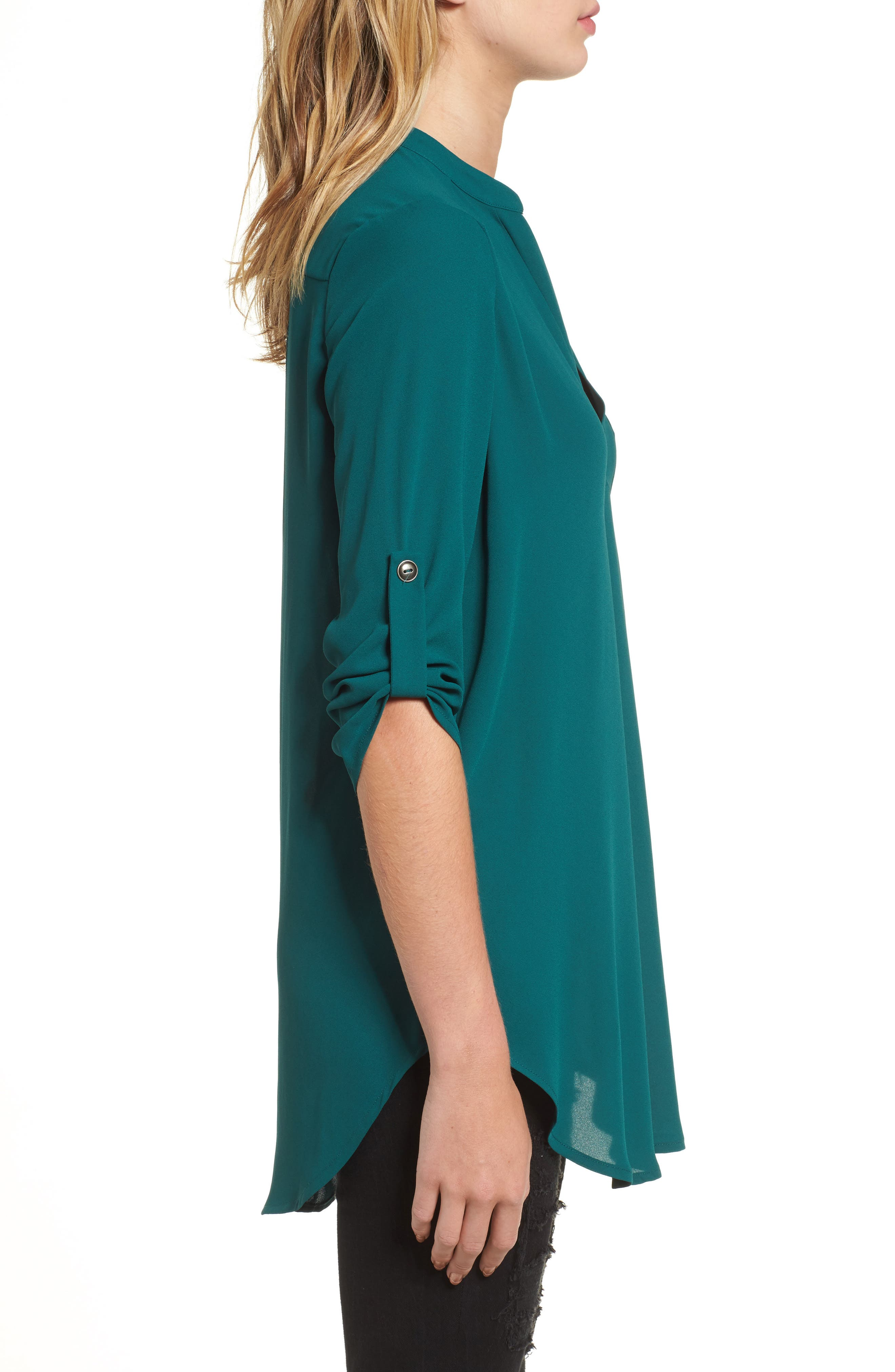 ,                             Perfect Roll Tab Sleeve Tunic,                             Alternate thumbnail 65, color,                             330