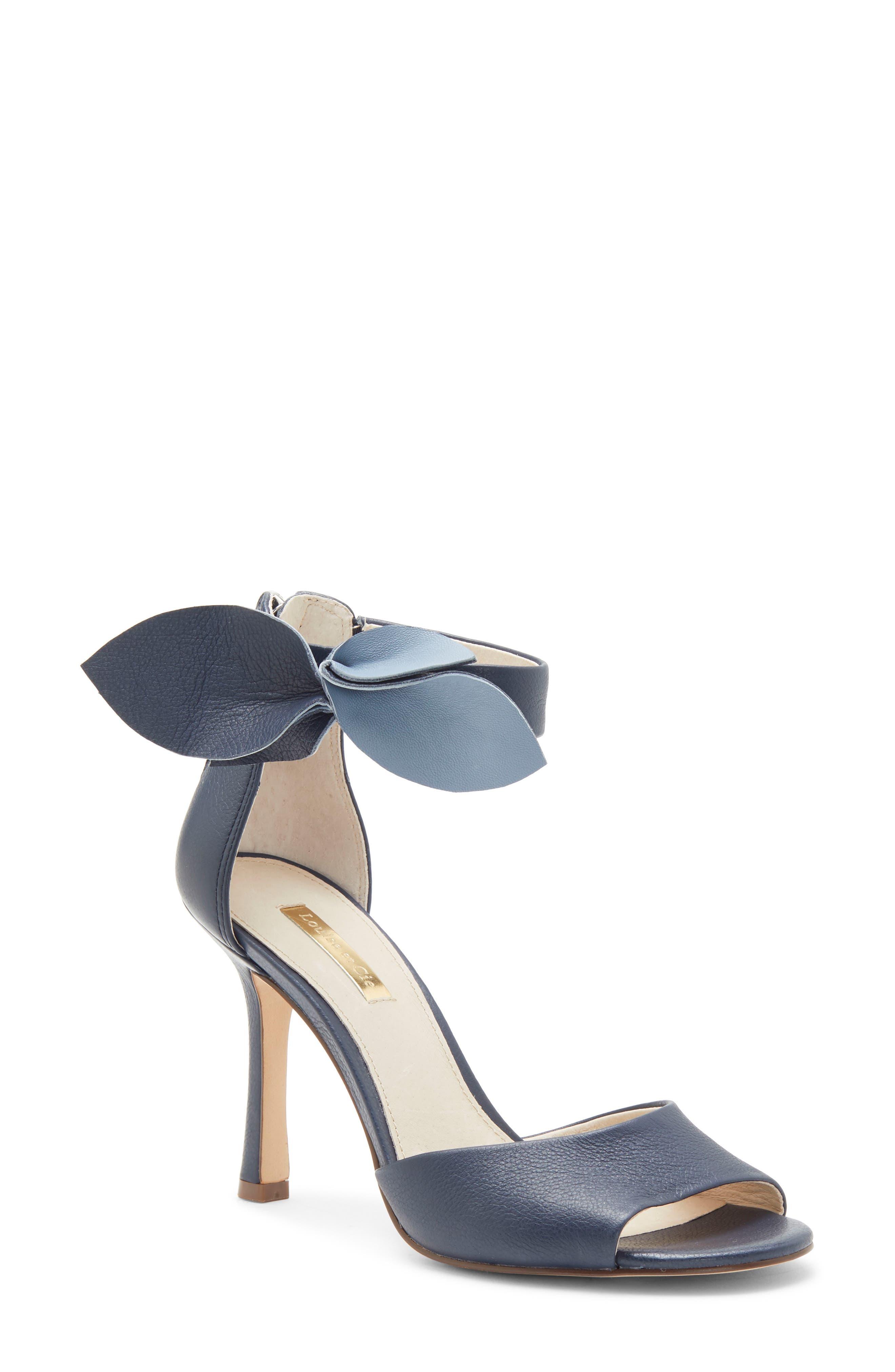Louise Et Cie Kenbeck Bow Ankle Strap Sandal, Blue