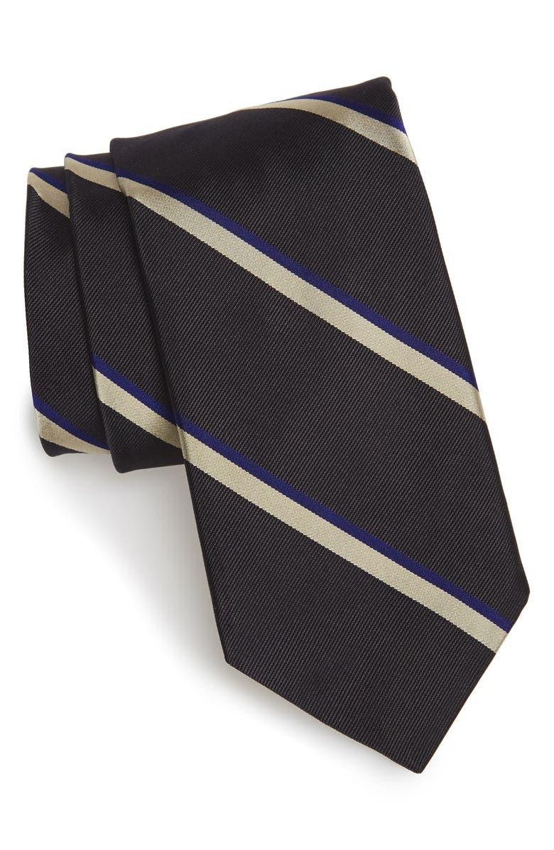 TODD SNYDER WHITE LABEL Stripe Silk Tie, Main, color, 022