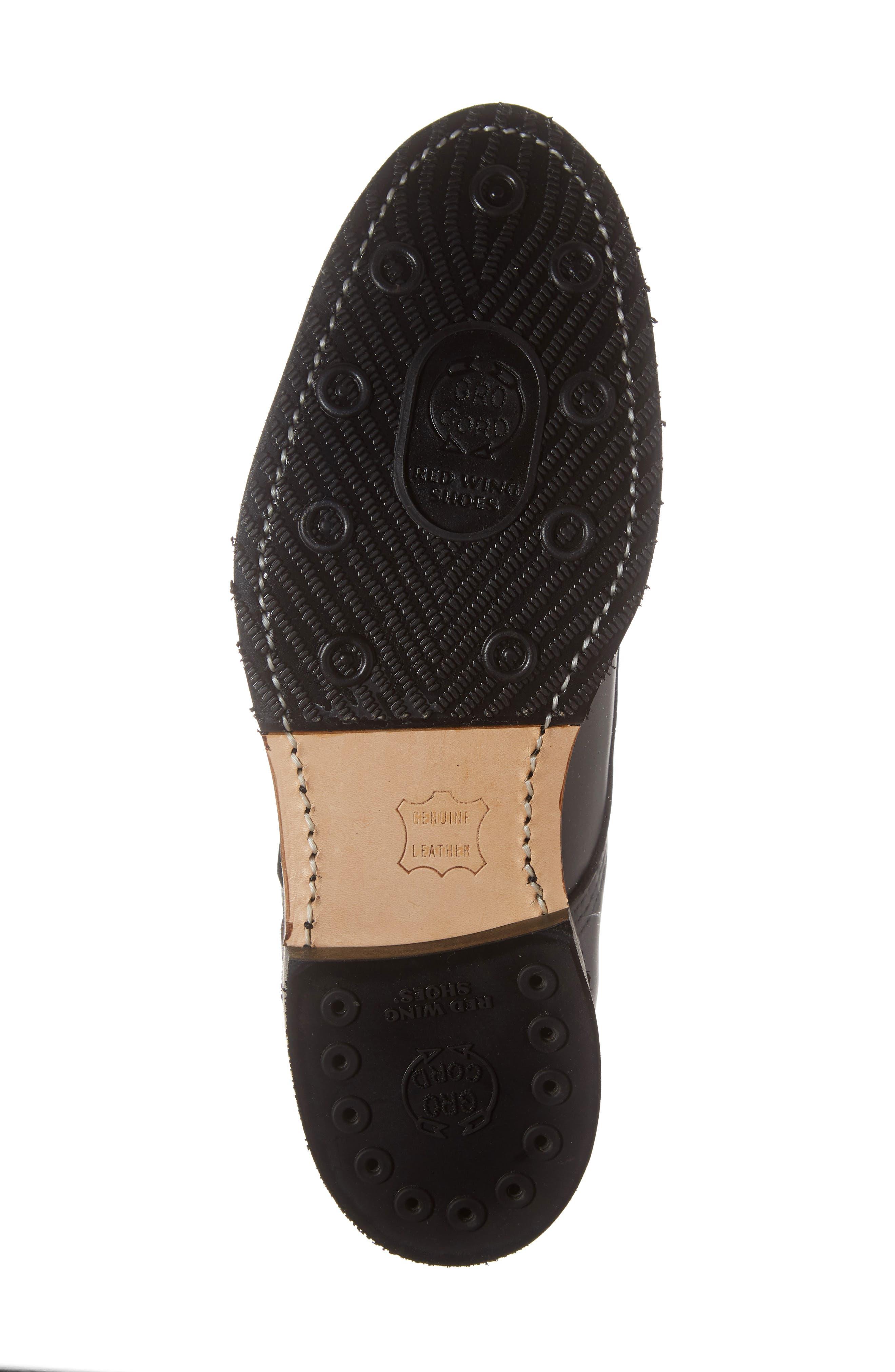 ,                             Williston Plain Toe Boot,                             Alternate thumbnail 6, color,                             BLACK LEATHER