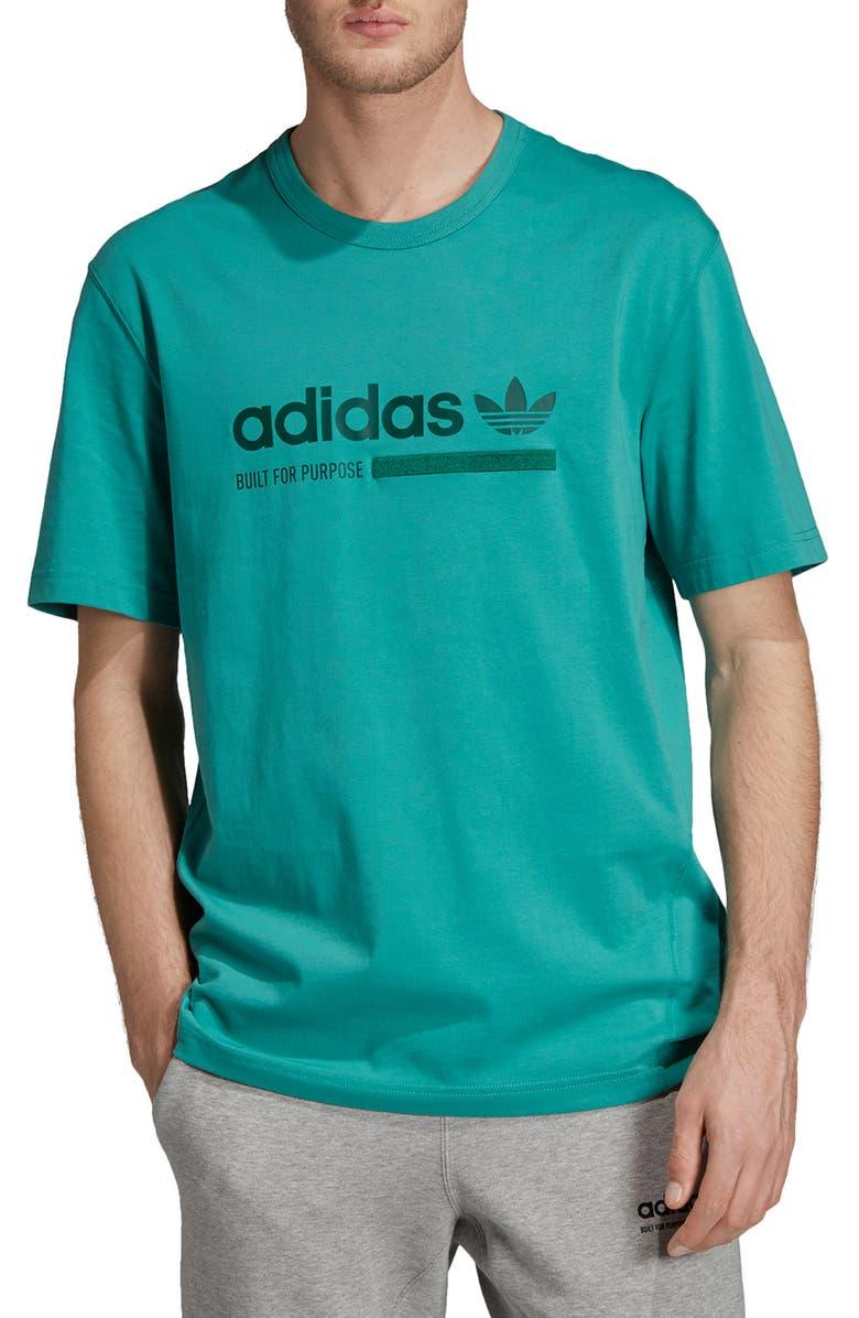 ADIDAS ORIGINALS T-Shirt, Main, color, TRUE GREEN