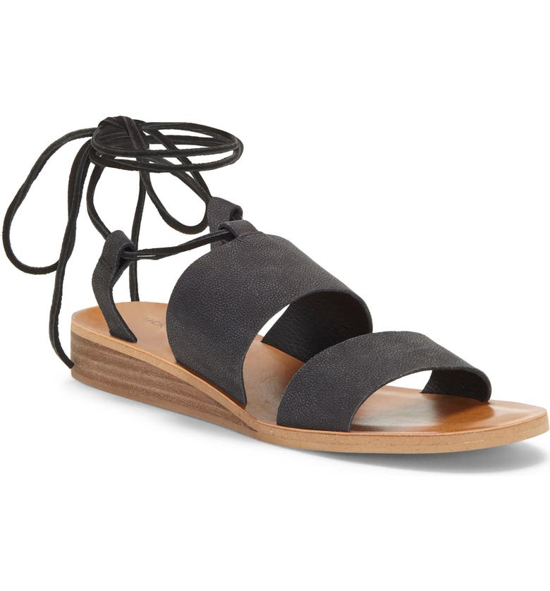 LUCKY BRAND Hadesha Sandal, Main, color, BLACK LEATHER