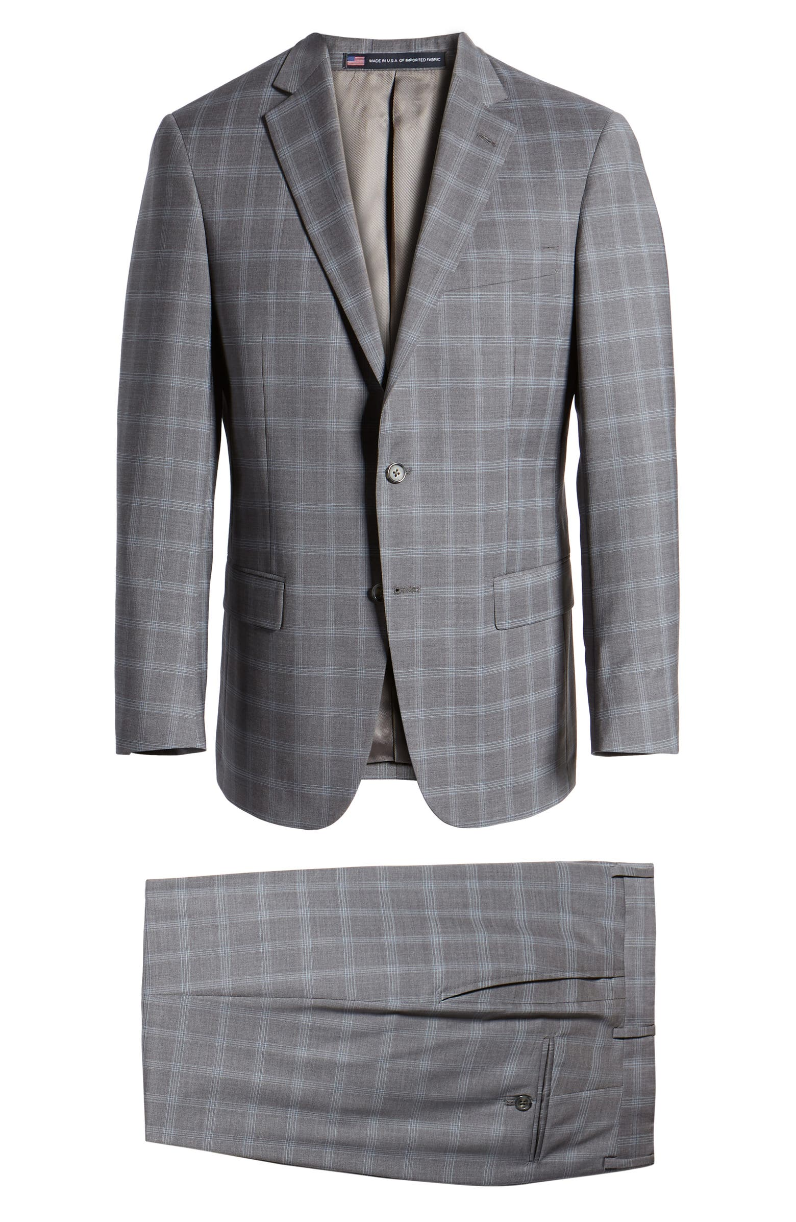 New York Classic Fit Plaid Wool Suit HART SCHAFFNER MARX