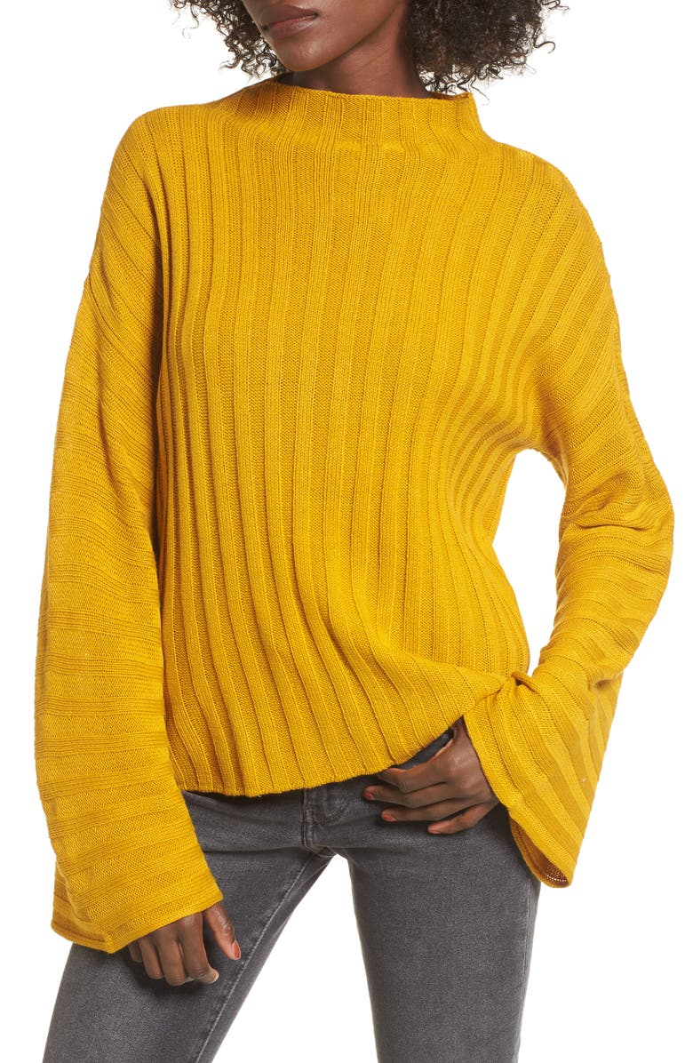 BP. Wide Rib Mock Neck Sweater, Main, color, 315