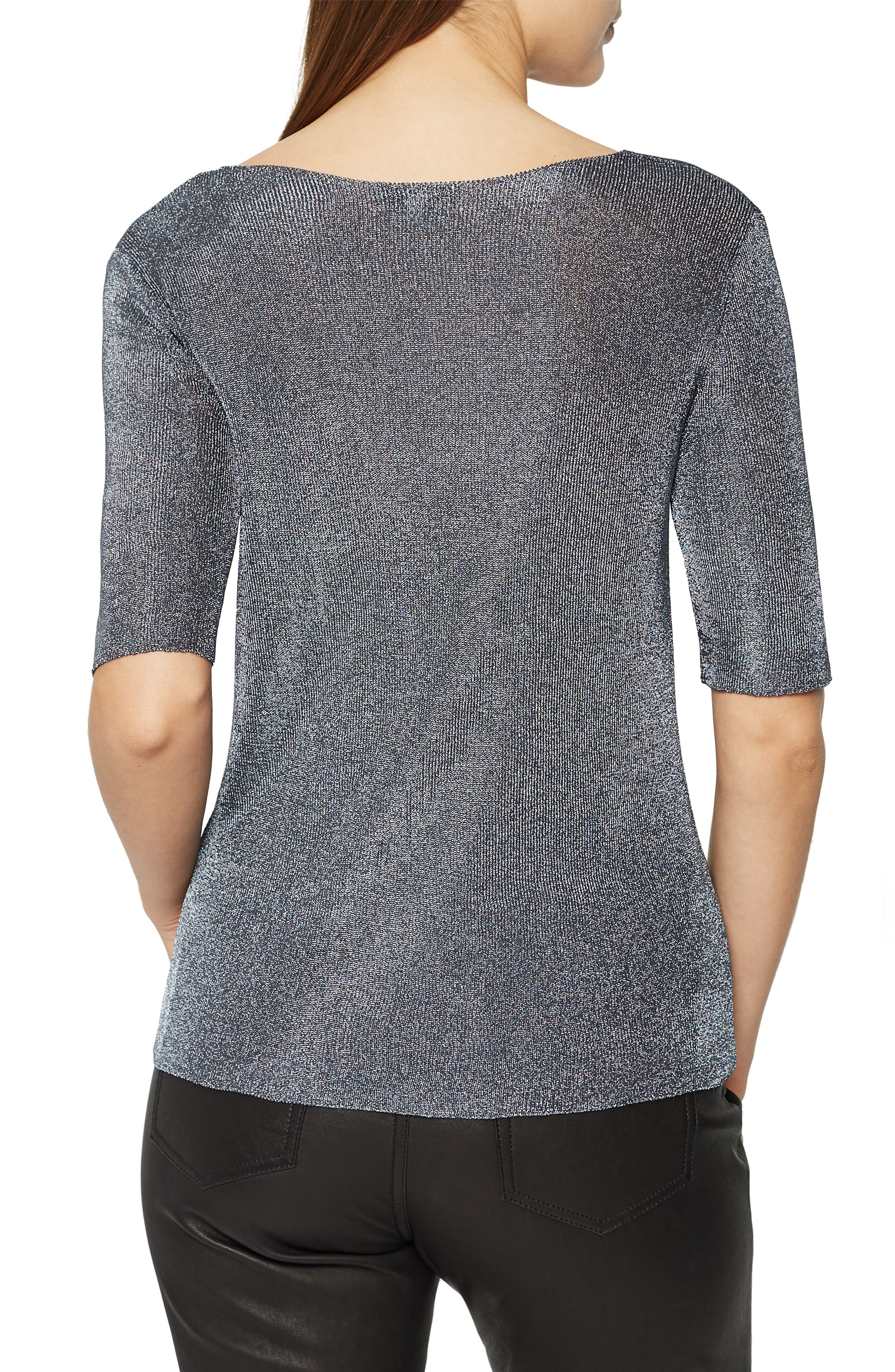 ,                             Tabby Scoop Neck Metallic Sweater,                             Alternate thumbnail 2, color,                             CHARCOAL