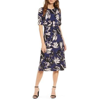 Vince Camuto Print A-Line Dress, Blue