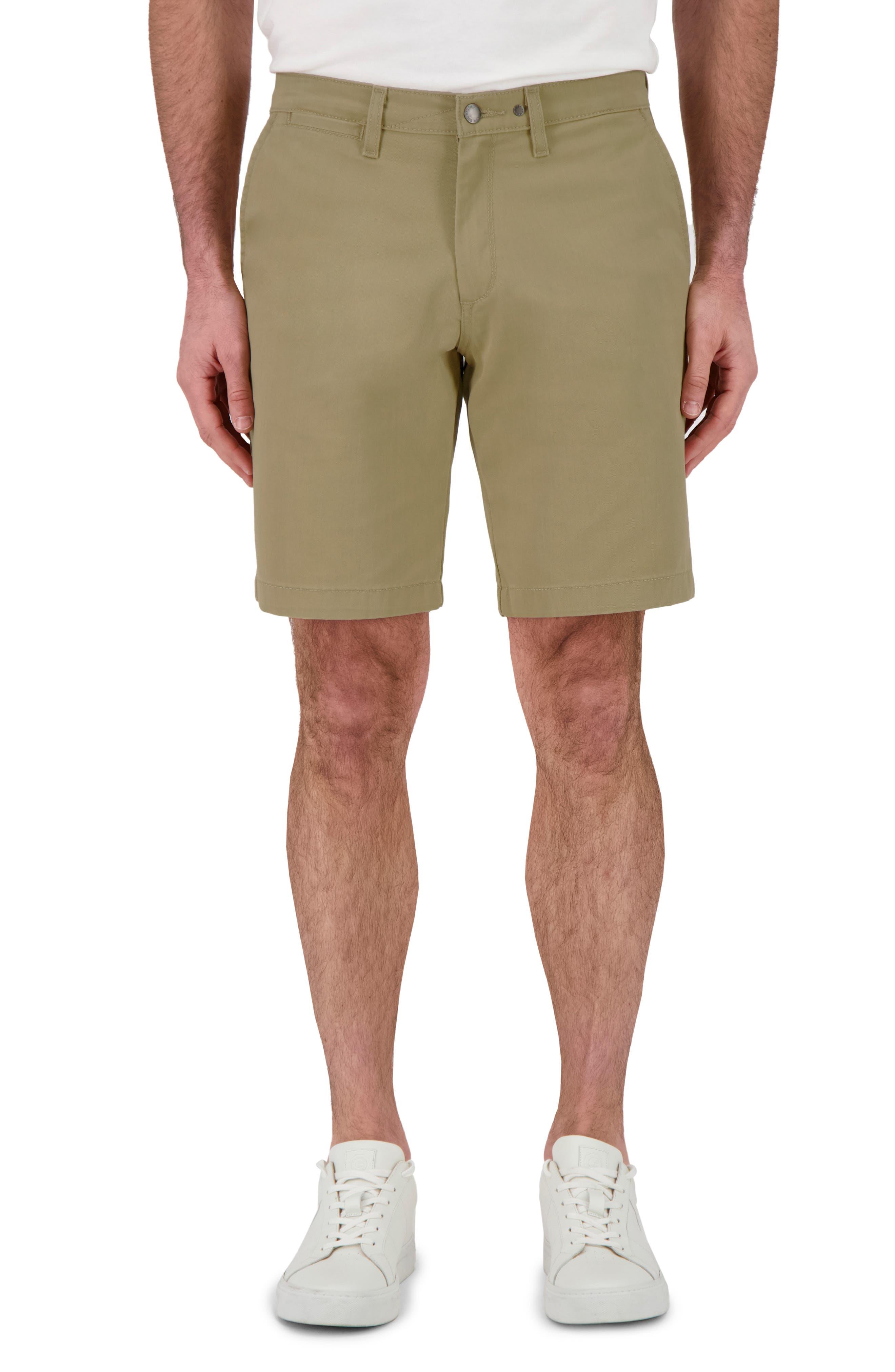 Flat Front Twill Shorts