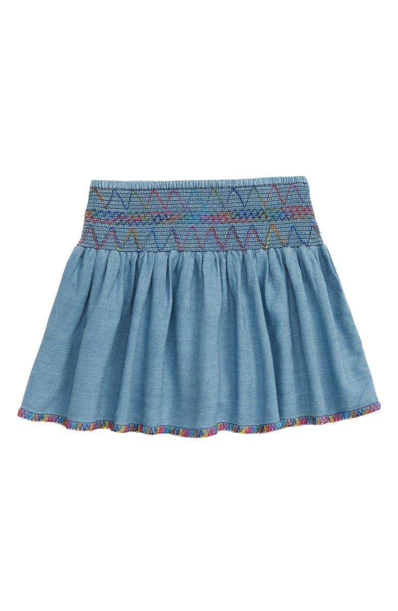 PEEK AREN'T YOU CURIOUS Pixie Denim Skirt, Main, color, 406
