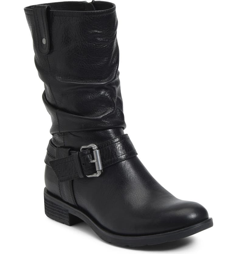 SÖFFT Bostyn Waterproof Boot, Main, color, BLACK LEATHER