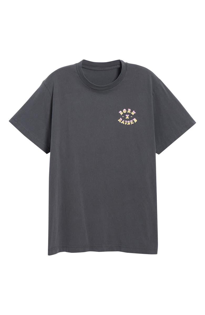 BORN X RAISED Sunset Rocker T-Shirt, Main, color, BLACK