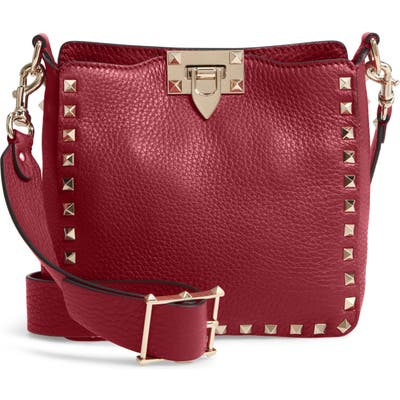Valentino Garavani Rockstud Mini Hobo Crossbody Bag - Pink