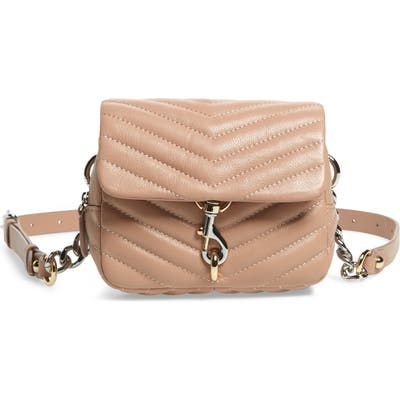 Rebecca Minkoff Edie Quilted Leather Belt Bag - Beige