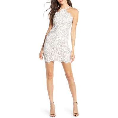 Lulus Delicate Darling Lace Minidress, Ivory