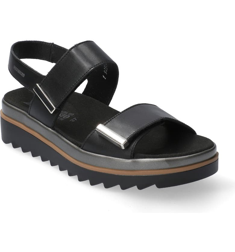 MEPHISTO Dominica Sandal, Main, color, BLACK LEATHER