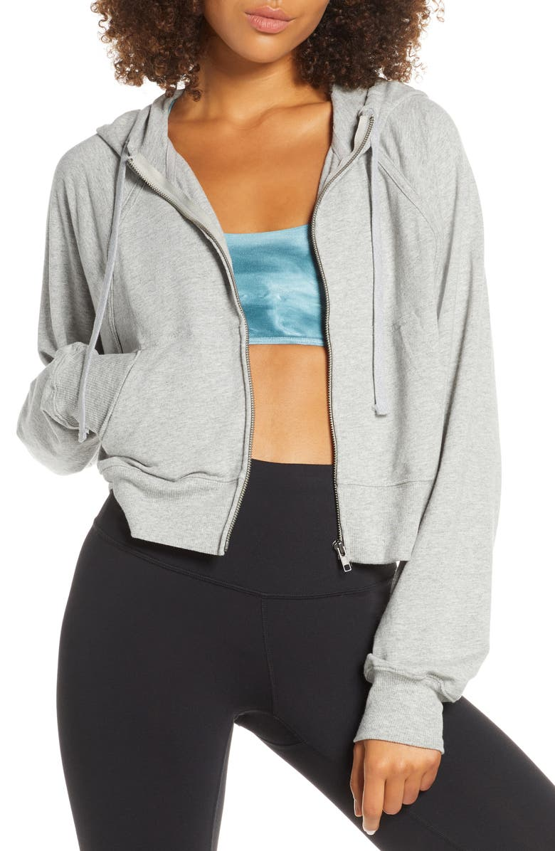FREE PEOPLE MOVEMENT Free People FP Movement Sting Like a Bee Hoodie, Main, color, GREY