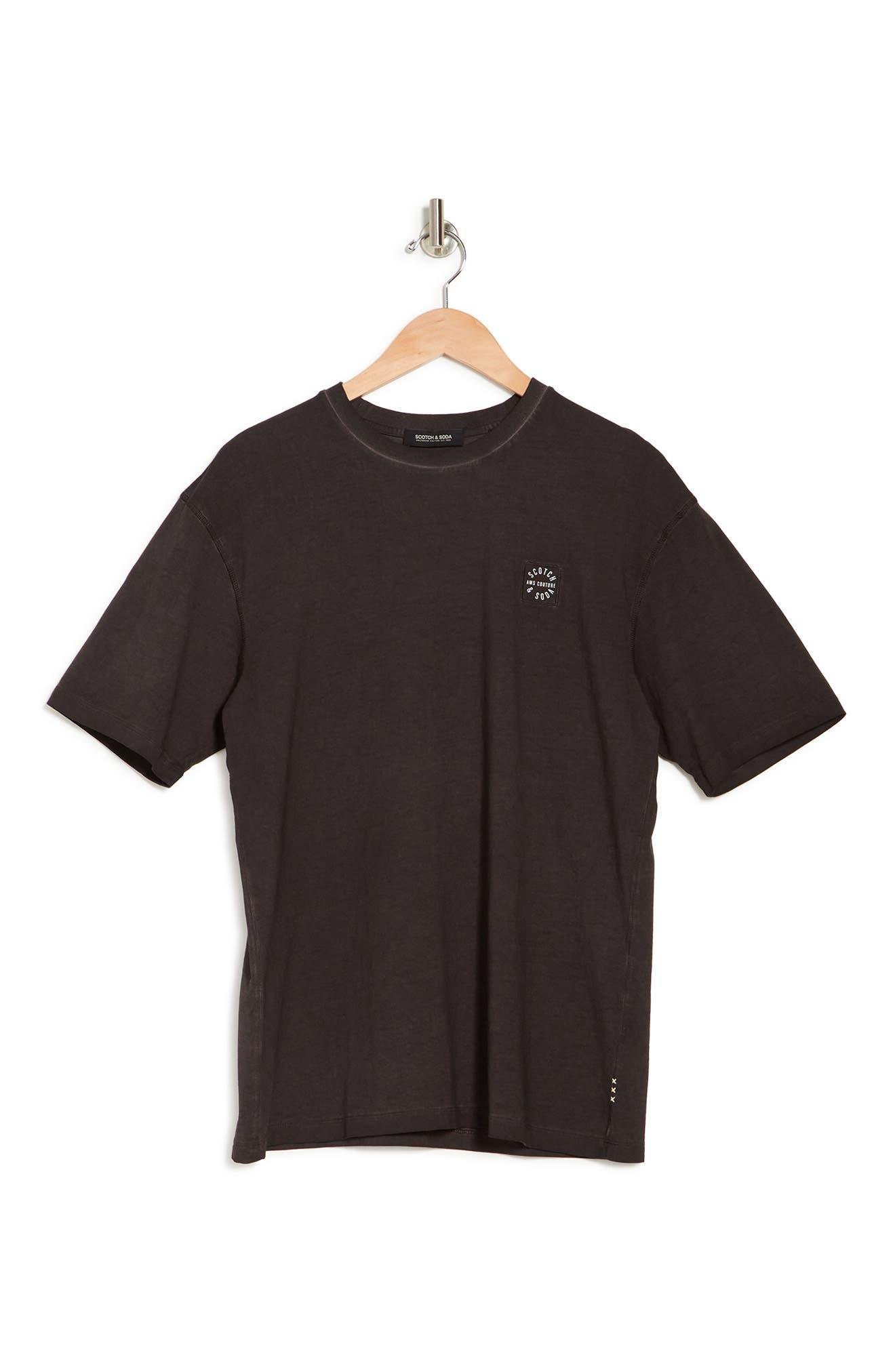 Scotch & Soda Oversized Oil Wash Crewneck T-shirt In 3499-bordeaubergine