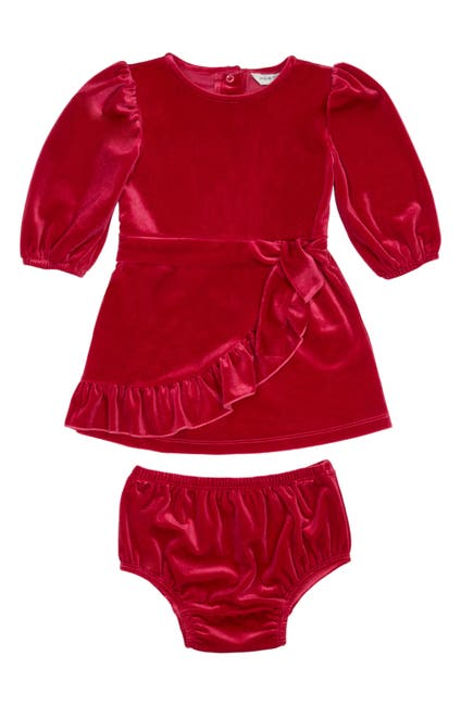 Image of Habitual Kids Stevie Velour Wrap Dress 2-Piece Set