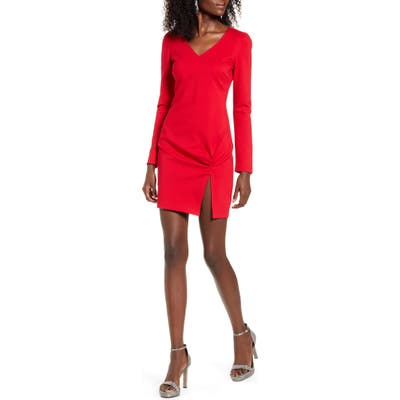 Leith Ponte Minidress, Red