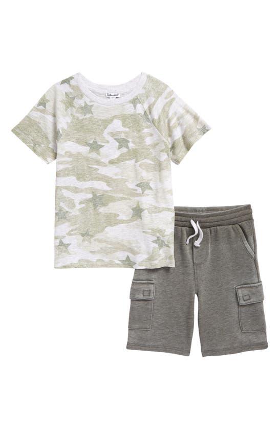 Splendid Cottons KIDS' STAR CAMO T-SHIRT & CARGO SHORTS SET (TODDLER & LITTLE BOY)