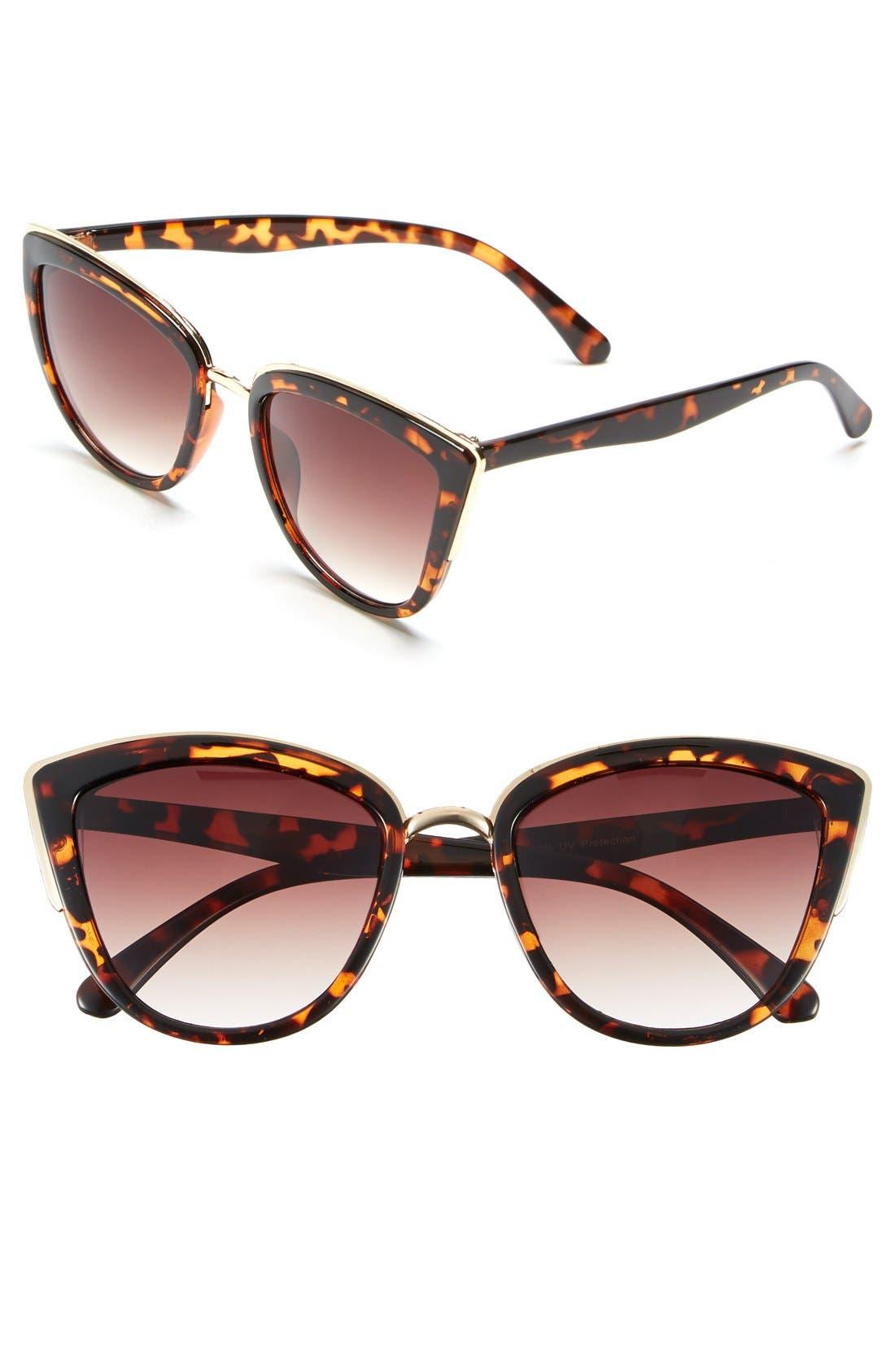 ,                             55mm Metal Rim Cat Eye Sunglasses,                             Main thumbnail 11, color,                             200