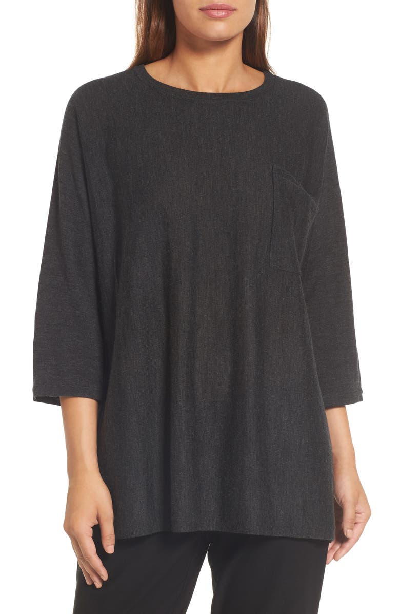 EILEEN FISHER Lightweight Merino Wool Sweater, Main, color, 021