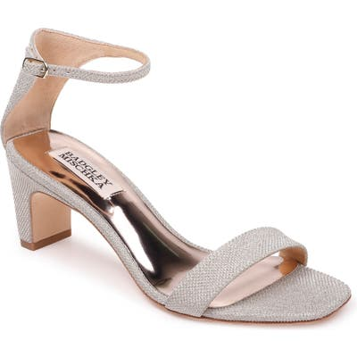 Badgley Mischka Aida Metallic Ankle Strap Sandal- Metallic