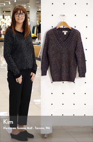 Metallic Shaker Stitch Sweater, sales video thumbnail