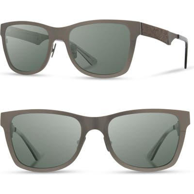 Shwood Canby 5m Sunglasses - Gunmetal/ Elm Burl
