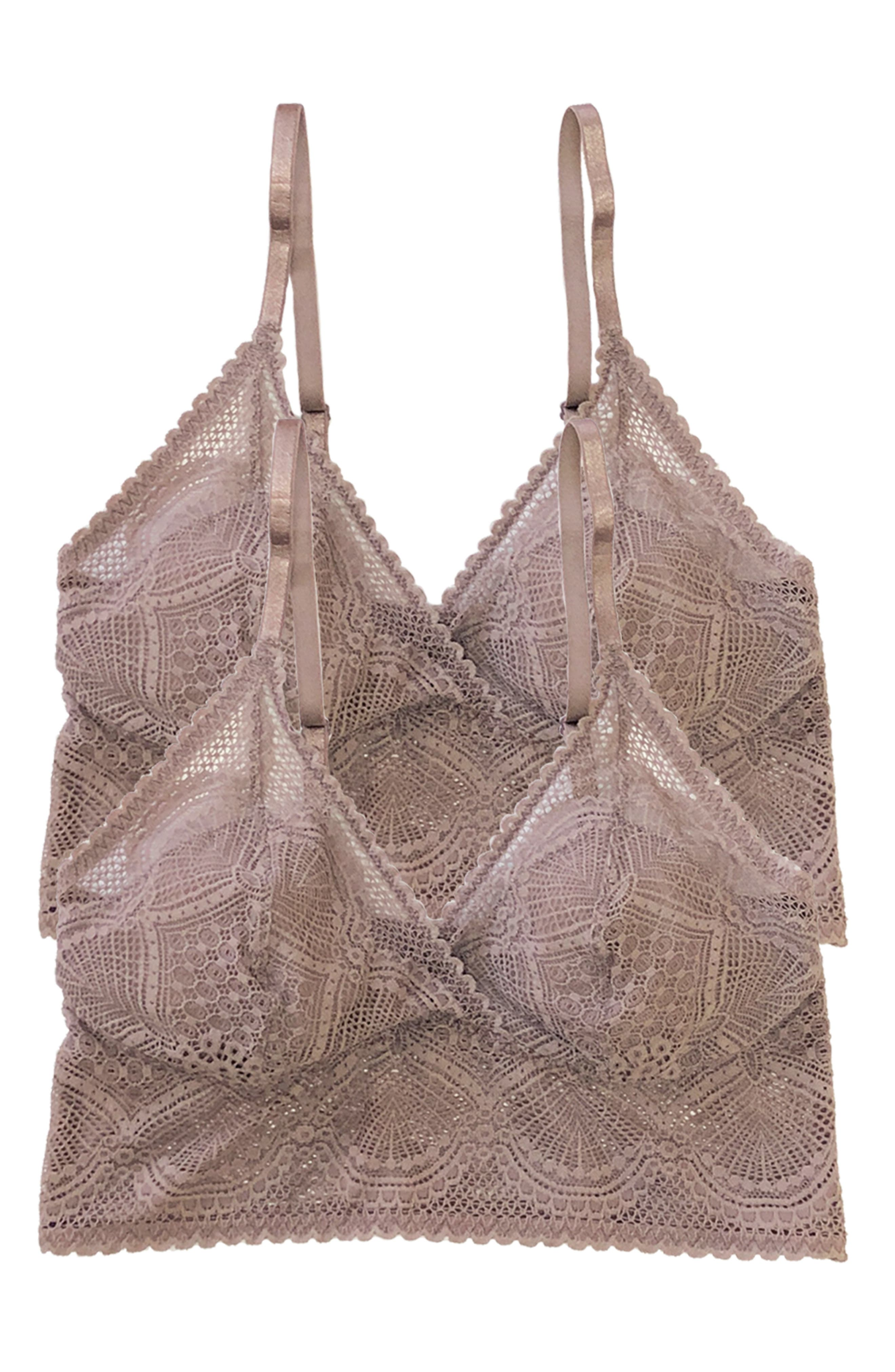 2-Pack Lace Bralettes