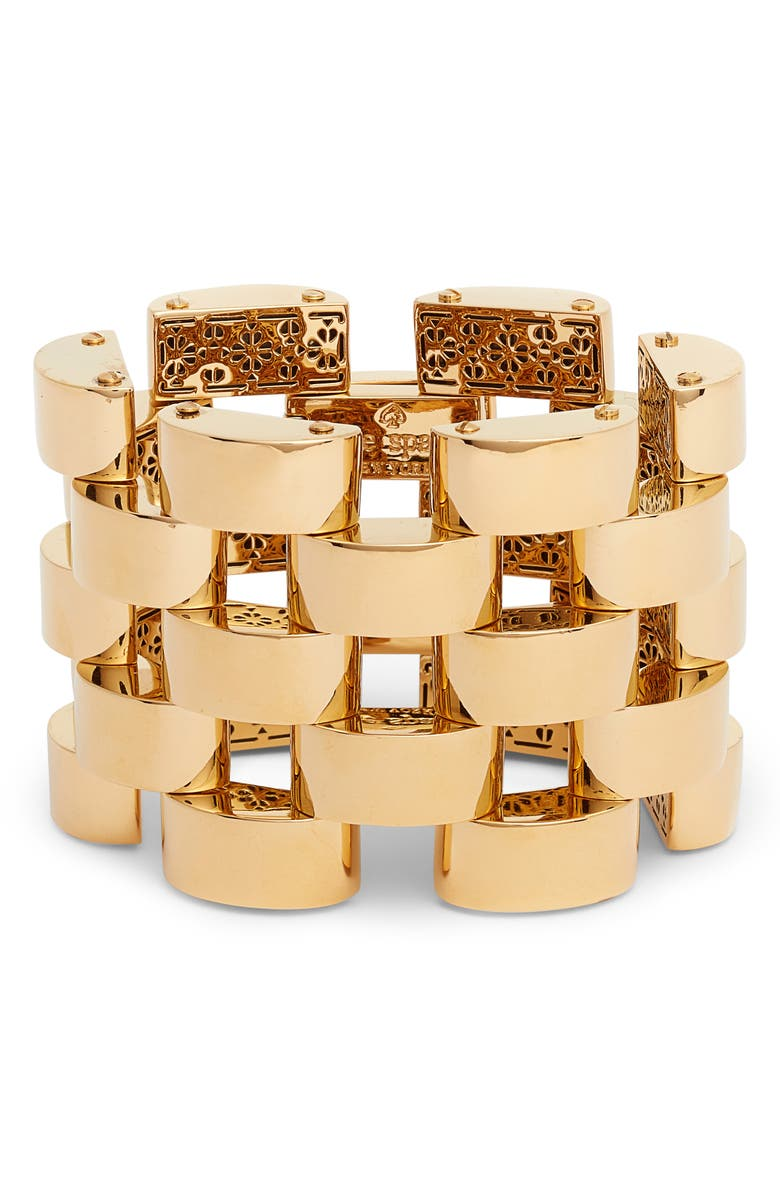 KATE SPADE NEW YORK sliced scallops bracelet, Main, color, GOLD
