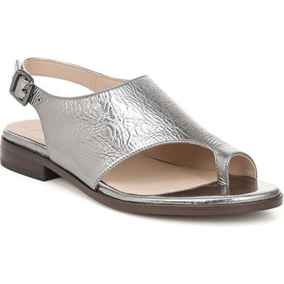 27 Edit Emma Toe Loop Sandal- Metallic