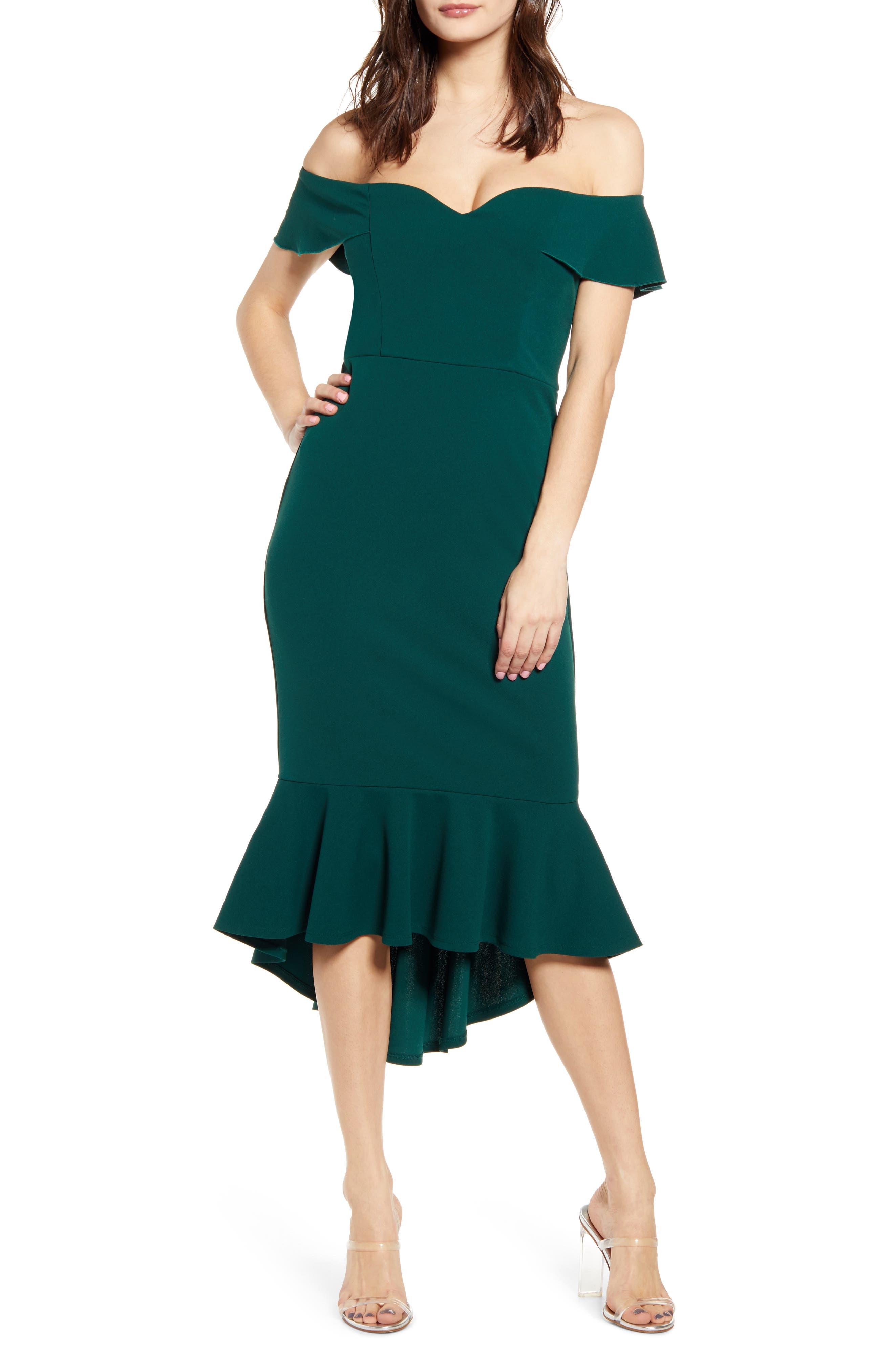Love, Nickie Lew Sweetheart Midi Dress, Green