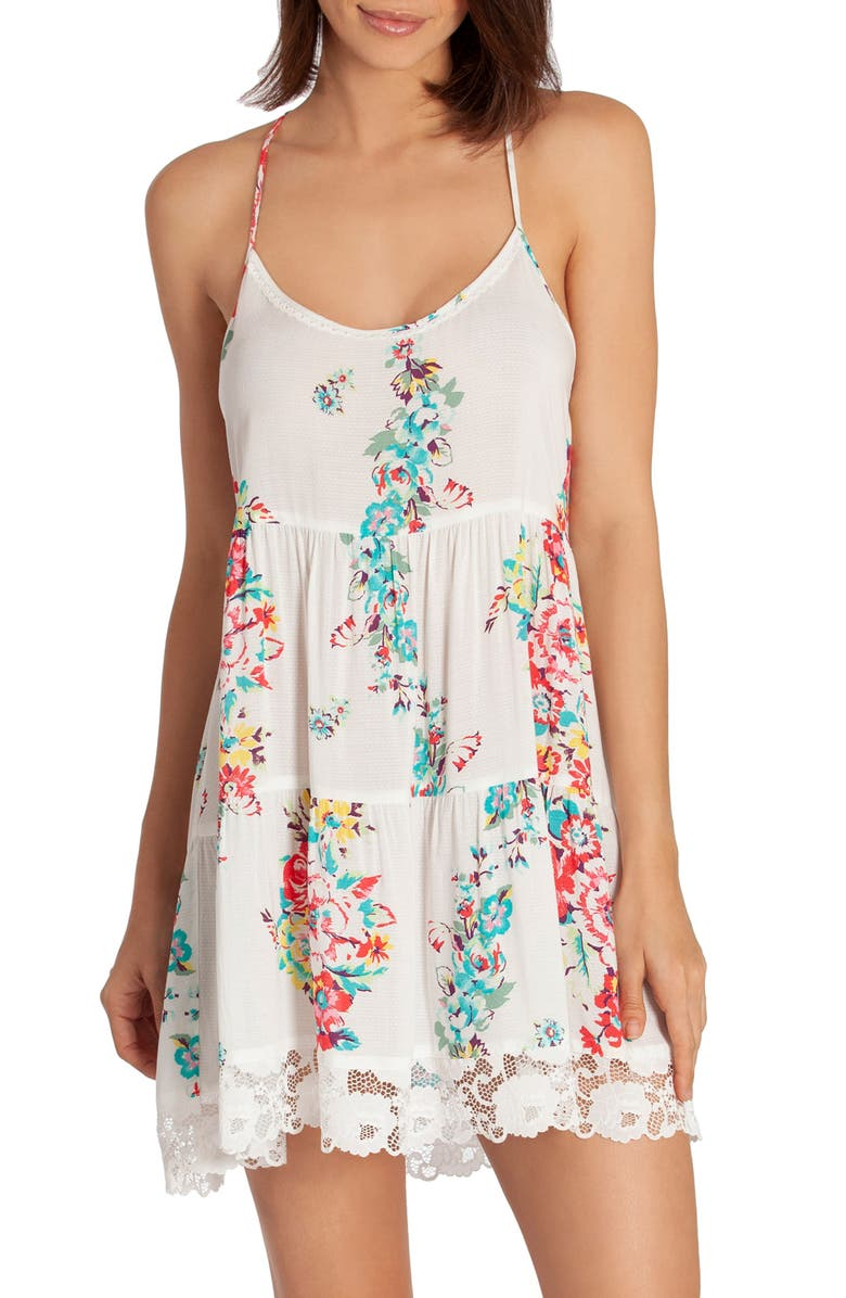IN BLOOM BY JONQUIL Kokomo Chemise, Main, color, IVORY GROUND FLORAL PRINT