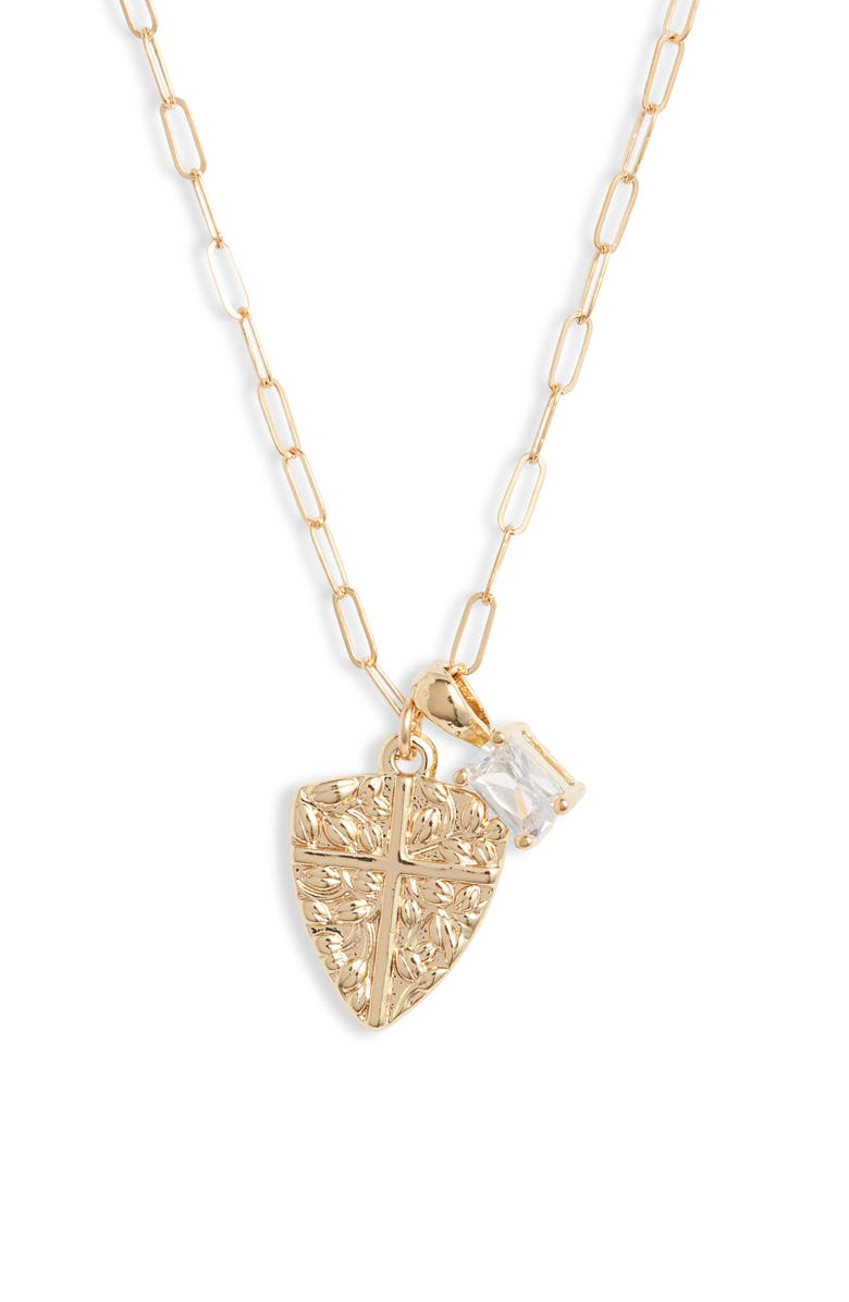 BRACHA Protection Charm Necklace, Main, color, GOLD
