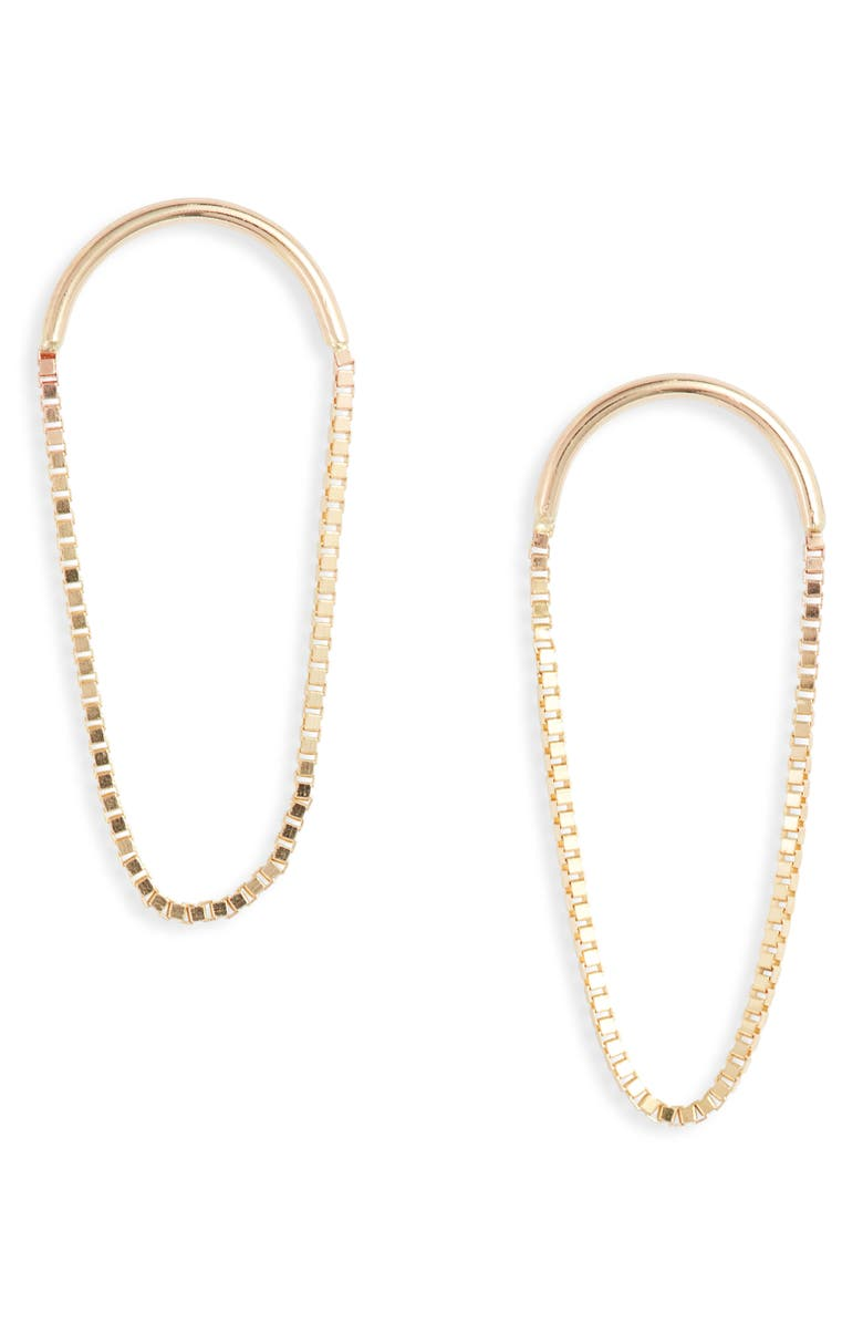 POPPY FINCH 14K Gold Arch Earrings, Main, color, YELLOW GOLD