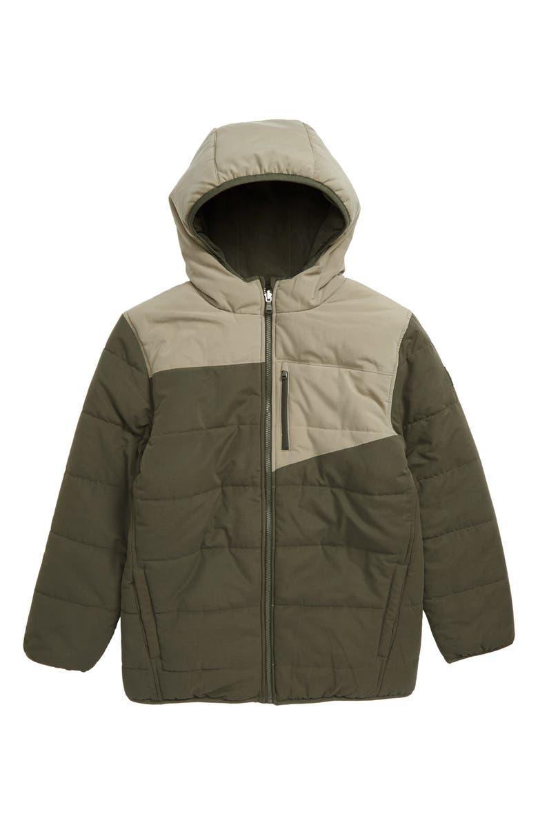 UNDER ARMOUR Nolan Reversible Puffer Jacket, Main, color, GUARDIAN GREEN