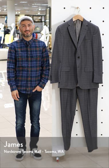 Classic Fit Plaid Wool Suit, sales video thumbnail