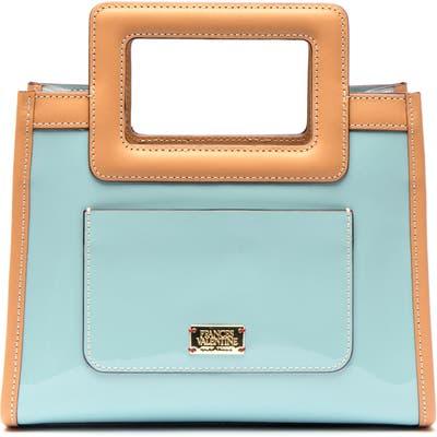 Frances Valentine Lindsay Patent Leather Bag - Blue