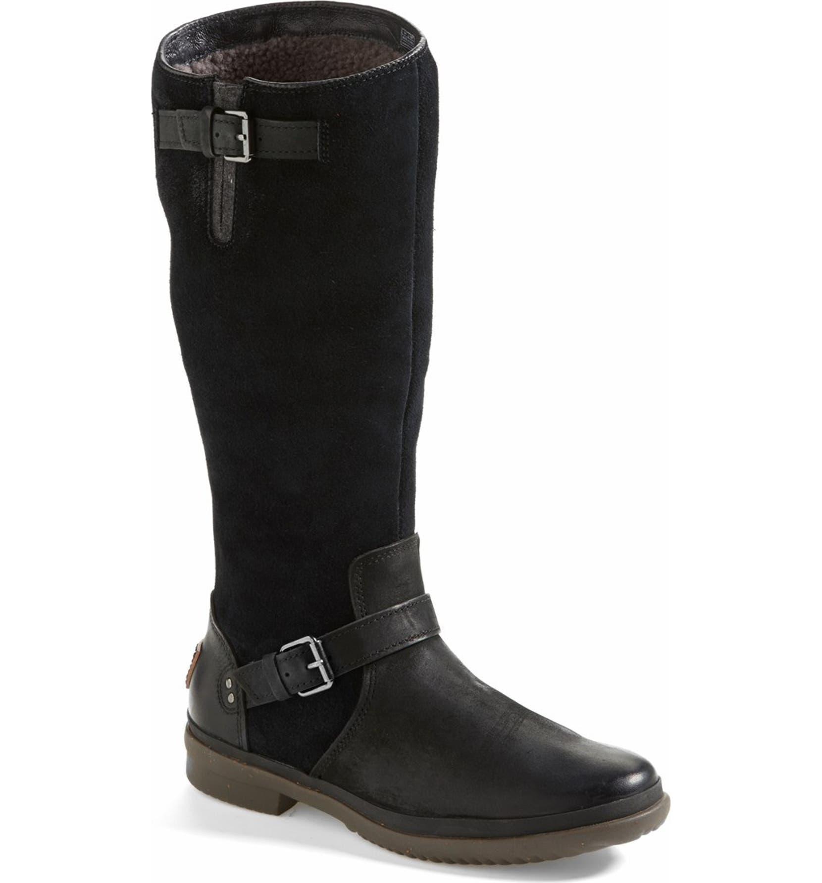 3cedad35818 'Thomsen' Waterproof Leather Knee High Boot
