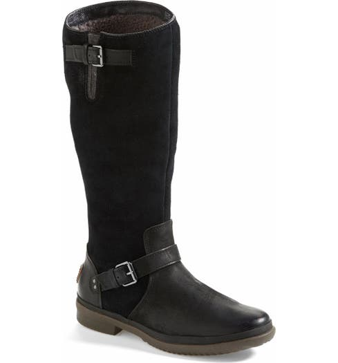 d89e8f9db8d 'Thomsen' Waterproof Leather Knee High Boot