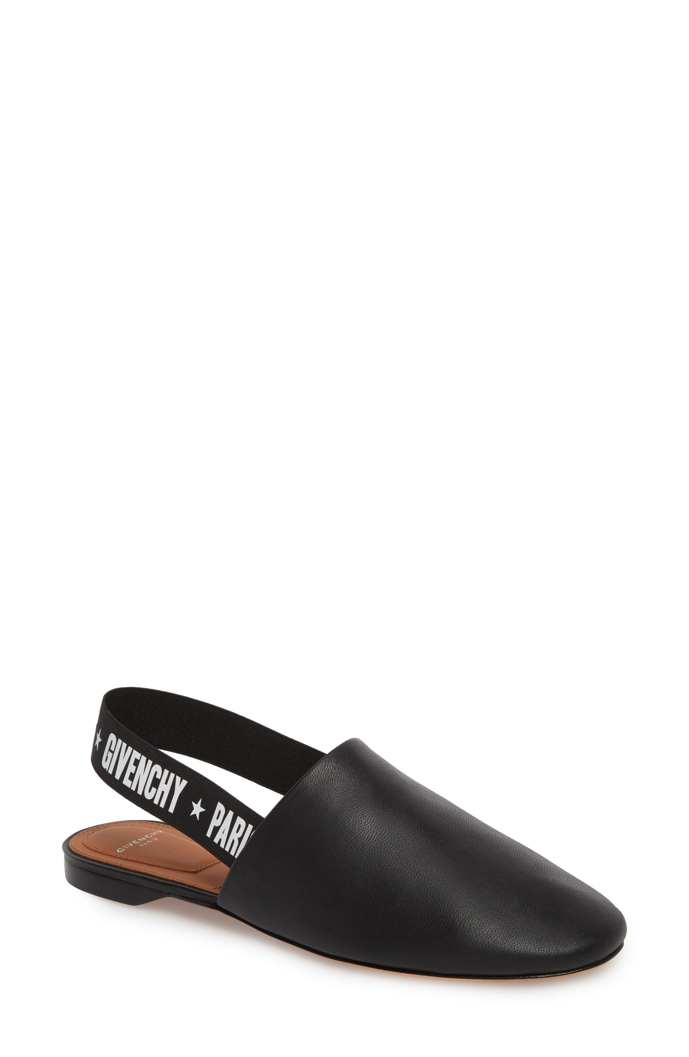 Givenchy Rivington Logo Slingback Mule - Black