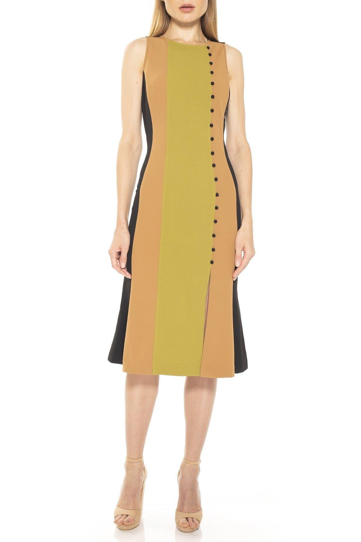 Image of Alexia Admor Anna Colorblock Slit Midi Dress