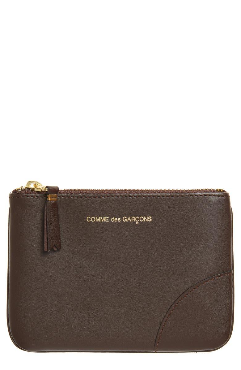 COMME DES GARÇONS Small Zip Leather Pouch, Main, color, 200