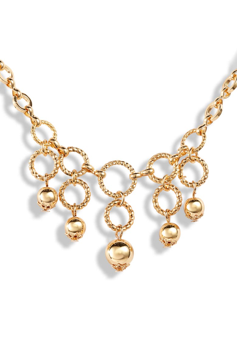 ETTIKA Linked Ring Necklace, Main, color, GOLD